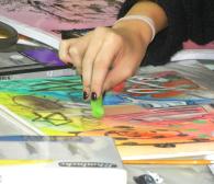 Malworkshop im Atelier Irene Schuh Frankfurt, Zeichenworkshop im Atelier in Frankfurt