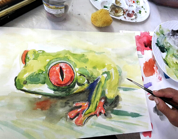 Aquarellmalerei-Kurs, Aquarelle-malen, KUNSTSCHULE-FRANKFURT-ATELIER-IRENE-SCHUH