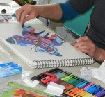 Bleistiftzeichnung lernen und Buntstiftzeichnung kennenlernen in der Kunstschule Frankfurt Atelier Irene Schuh