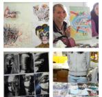 Mappenerstellung im Mappenkurs in Ffm, Kunst-Sommerakademie-Frankfurt in der Kunstschule Frankfurt Atelier Irene Schuh