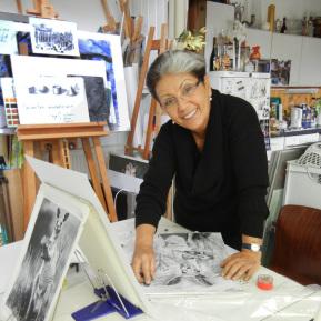 Malworkshop Zeichnen lernen in der Zeichenschule Atelier in Frankfurt