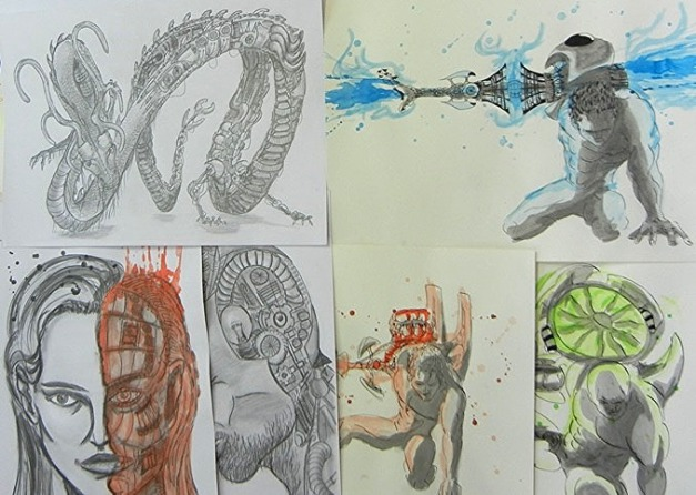 Illustrationen + Zeichnungen aus dem Mappenkurs Frankfurt, in der Mappenschule Frankfurt mit Mappenvorbereitung in Frankfurt