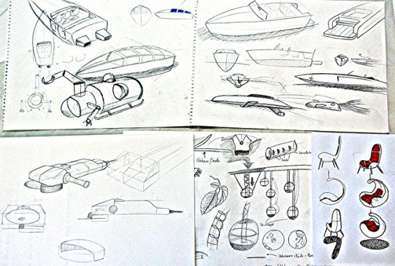 Ein paar Beispiele für Designentwürfe im Mappenkurs-Produktdesign, Mappenkurs-Industriedesign, Mappenberatung und Mappen-Coaching im Atelier Irene Schuh