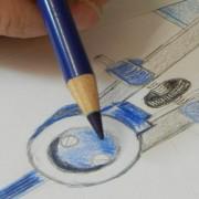 Objekt-Design, zeichnerische-Gestaltung, Design-zeichnen, Zeichenschule-Frankfurt-Atelier-Irene-Schuh