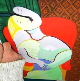 Malen wie Picasso im Acryl-Malkurs in Frankfurt, Öl-Malkurs in der KUNSTSCHULE-FRANKFURT-ATELIER-IRENE-SCHUH©