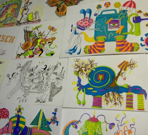 Buntstiftzeichnungen, Illustrationen zeichnen-lernen,Zeichenschule-Frankfurt-Atelier-Irene-Schuh