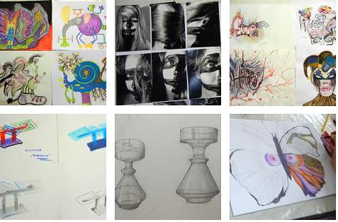 So sehen z.B. erfolgreiche Bilder aus der Mappenschule, in der Mappenvorbereitung - im Mappenkurs Frankfurt Atelier Irene-Schuh aus