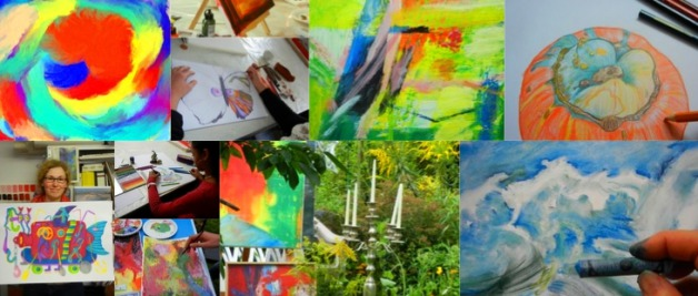 Kunst-Sommerakademie-Frankfurt 2020 Akademie-Impressionen, Kunstschule Frankfurt Atelier Irene Schuh