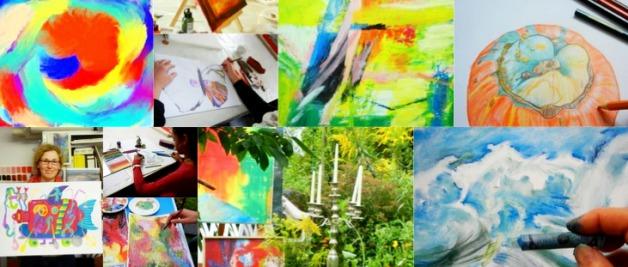 Impressionen aus der Kunstschule Frankfurt Atelier Irene Schuh