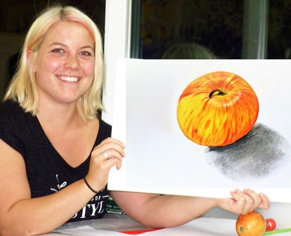 Zeichnen lernen im Zeichenkurs, illustriert mit der Illustrationstechnik von Irene Schuh