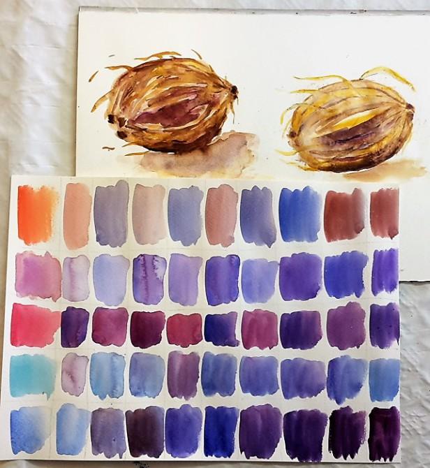 Farben mischen und Aquarellmalen-lernen-in-Frankfurt in der Kunstschule-Frankfurt-Atelier-Irene-Schuh