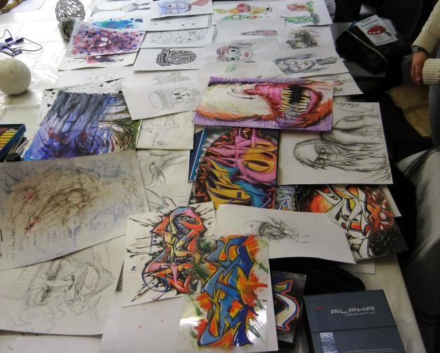 Mappenkurs-Grafik-Design, Kunstschule-Frankfurt, Kunstschuleatelier- Irene-Schuh