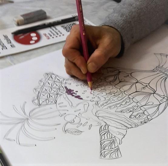 Im Atelier können Sie Zeichnen lernen, von einfach bis wunderschön.