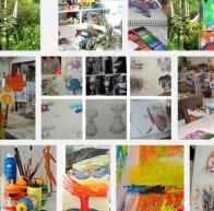 Fotogalerie vom Atelier, Teilnehmerbilder, Kunstschule-Frankfurt, Atelier-Irene-Schuh