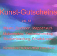 Kunst-Gutschein, Gutschein-für-Mal-oder-Zeichnen-Workshop, Kunstschule-Frankfurt-Atelier, Irene-Schuh