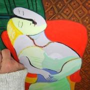 Moderne Malerei, gemalt mit Ölfarben, Künstlerische Gestaltung mit Irene Schuh, Atelier Frankfurt Malschule