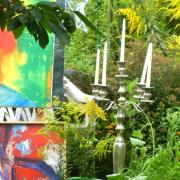 Ateliergarten der Kunstschule Frankfurt Atelier Irene Schuh