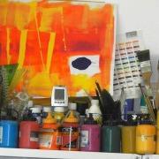 Bunte Farben, Impressionen der Kunstschule Frankfurt Atelier Irene Schuh