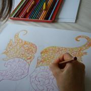 Schmetterling mit Buntstift zeichnen